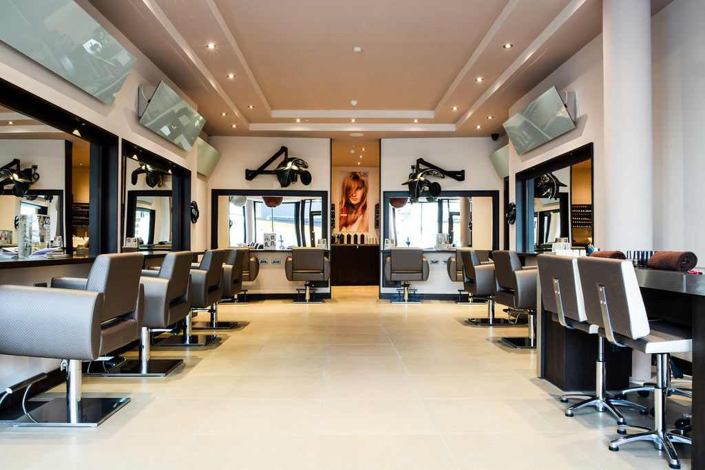 Redwell Infrared White Glass Heaters in a Salon