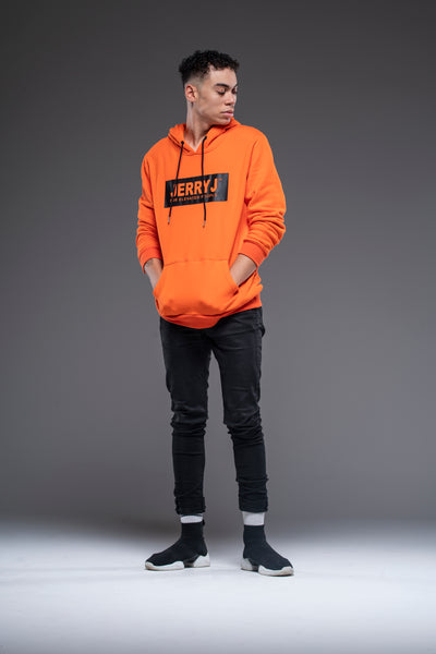 JerryJ Logo Hooded Sweatshirt On Man - Orange