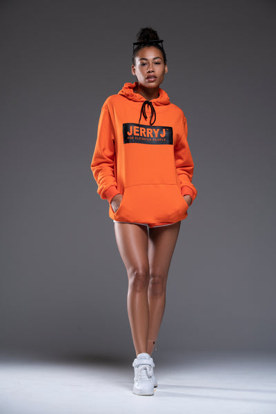 JerryJ Logo Hooded Sweatshirt - Orange
