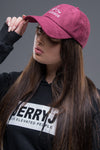 JerryJ Suede Baseball Cap On Woman - Maroon