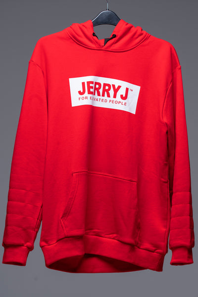 JerryJ Logo Hooded Sweatshirt - Red