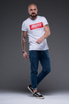 JerryJ Logo Print T-Shirt On Man - White