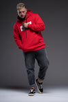 JerryJ Logo Hooded Sweatshirt On Man - Red