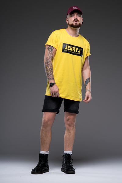 JerryJ Logo Print T-Shirt On Man - Yellow