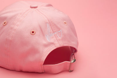 Back Of Jerry J Tribal Baseball Cap - Pink