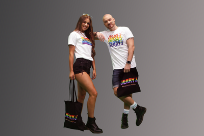 Jerry J Rainbow Pride Unisex T-Shirt - White