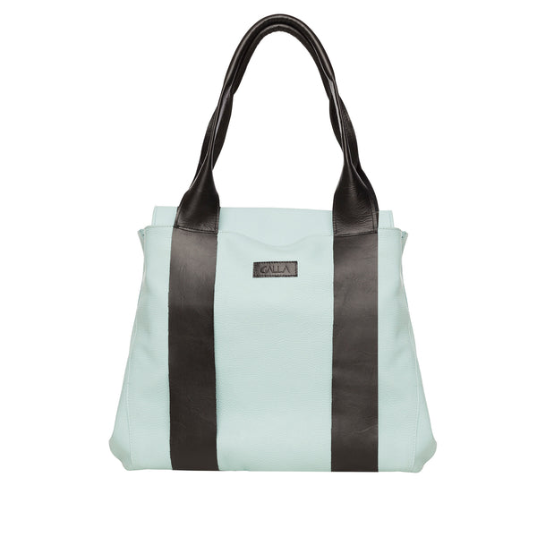 Mint Leather Shopper