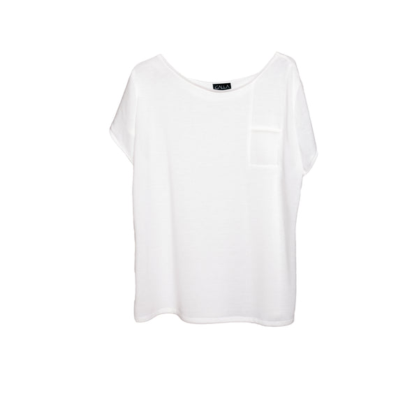 *MON White Oversized T-Shirt - White Pocket