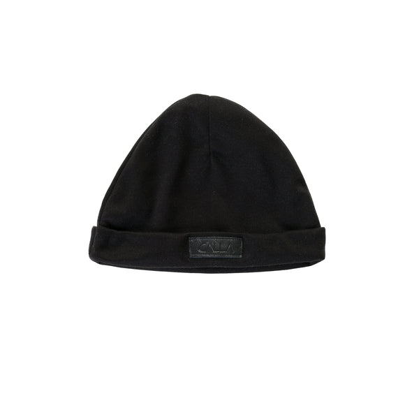 Turn Up Black Beanie Hat
