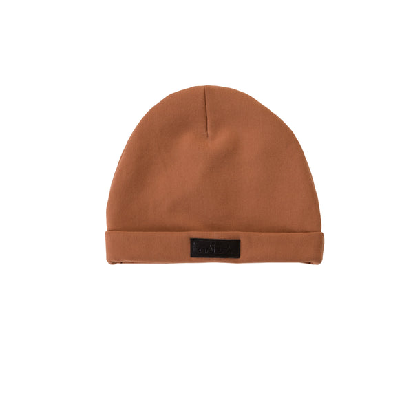 Turn Up Brown Beanie Hat