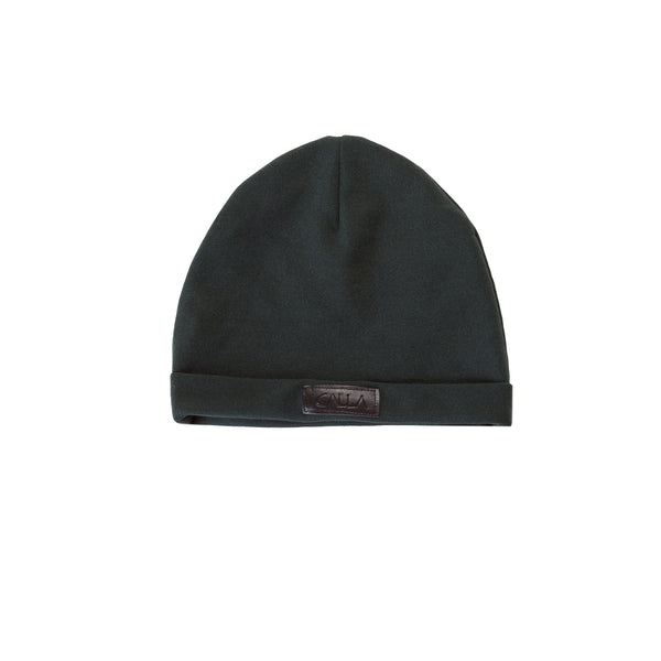 Turn Up Dark Green Beanie Hat
