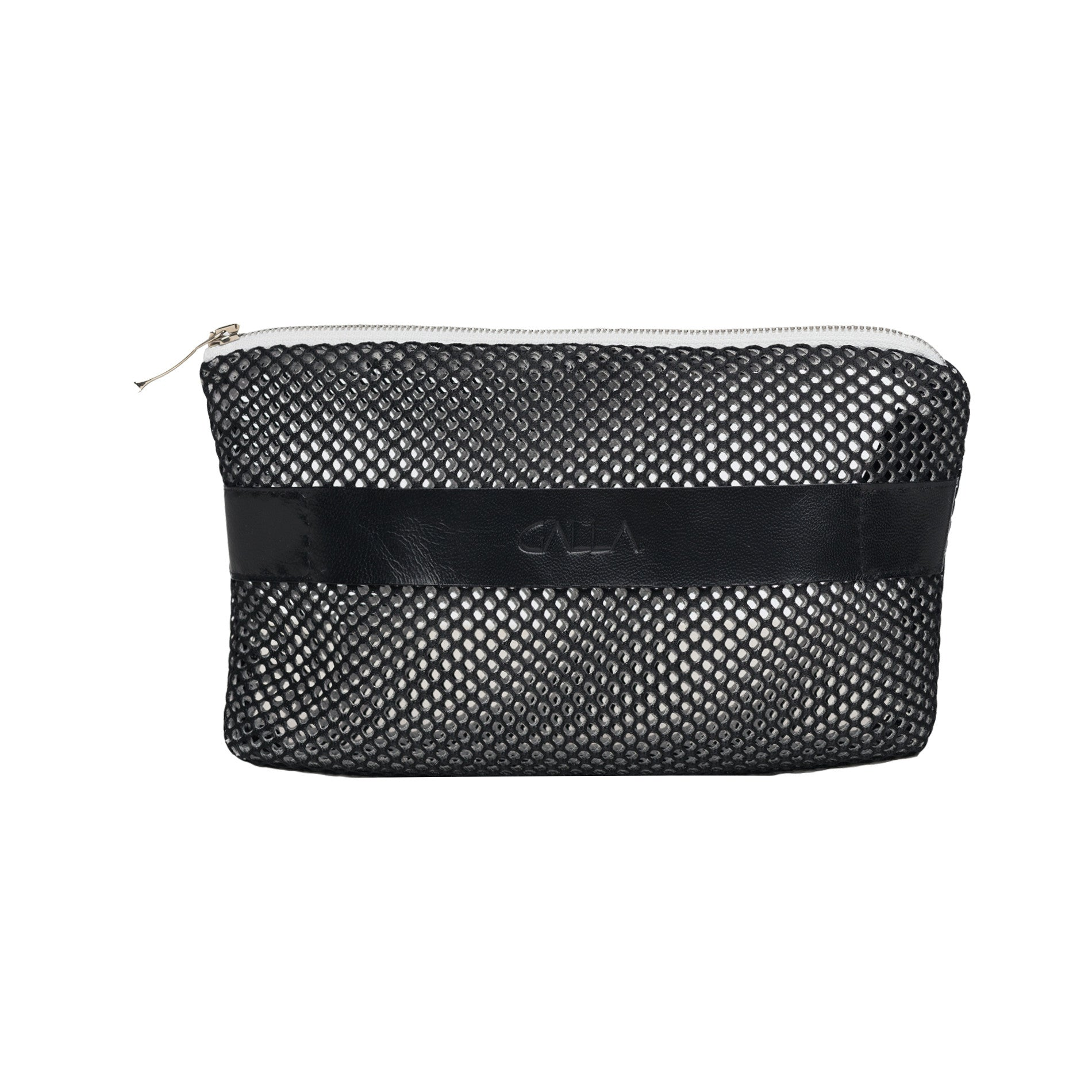 Black & White Reticulated Clutch