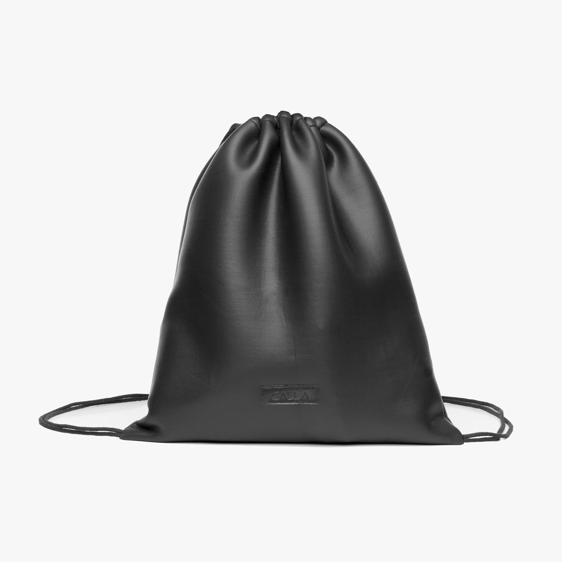 Black Neoprene Drawstring Bag