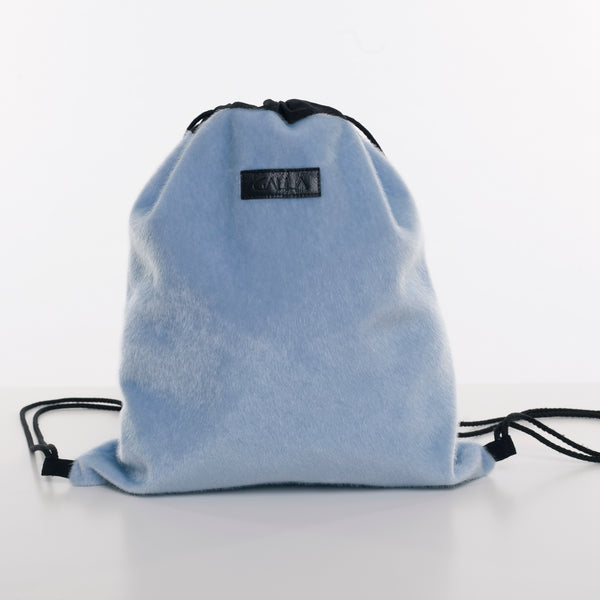 *ZYL Blue Drawstring Bag