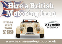 3 Wheeler Morgan Hire Experience (including factory tour)