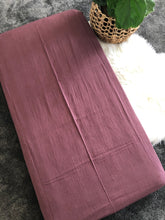 Mauve Crinkle Cotton Cot Sheet