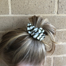 Olive Stripes Scrunchie