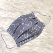 Grey Triangles Face Mask- Adult