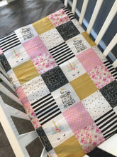 Golden Unicorn Cot Quilt