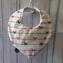 Bows Christmas Bib