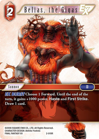 2-019R - Belias, the Gigas - Rare