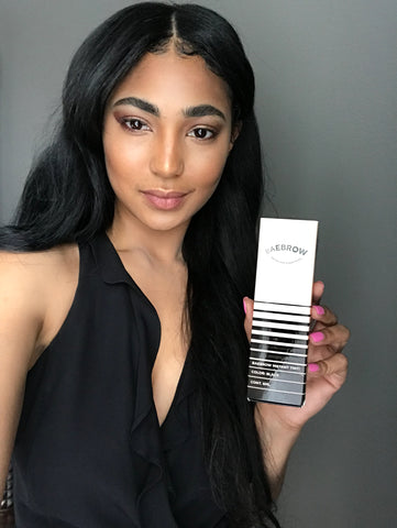 eyebrow tinting BAEBROW black Instant Tint testimonial review