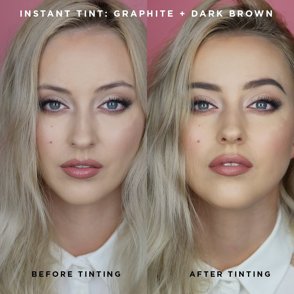 Instant Tint! Set Dark Brown + Graphite - BAEBROW Instant Tint for Eyebrows