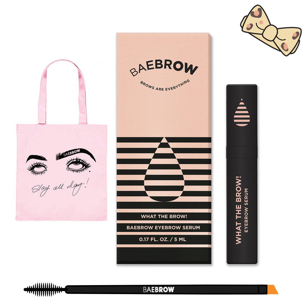 Brow Pamper Gift Set + Leopard Baeband - BAEBROW Instant Tint for Eyebrows