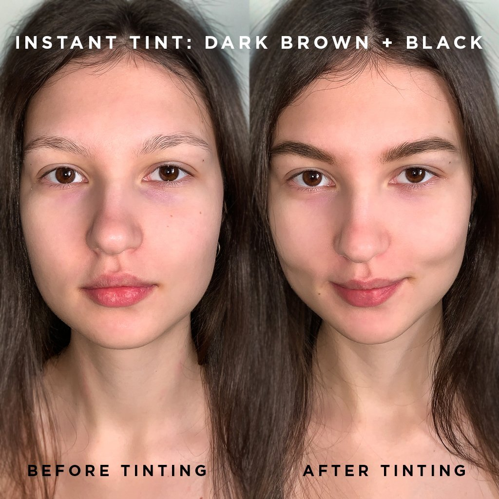Instant Tint! Set Dark Brown + Black - BAEBROW Instant Tint for Eyebrows