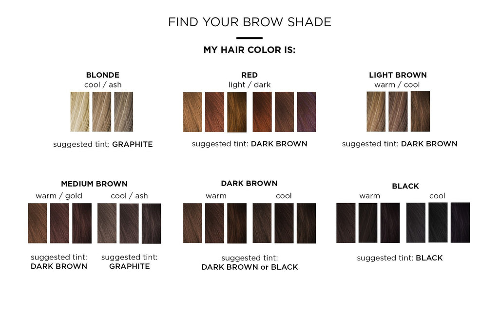 Instant Tint! Complete Set Dark Brown + Black + Graphite - BAEBROW Instant Tint for Eyebrows