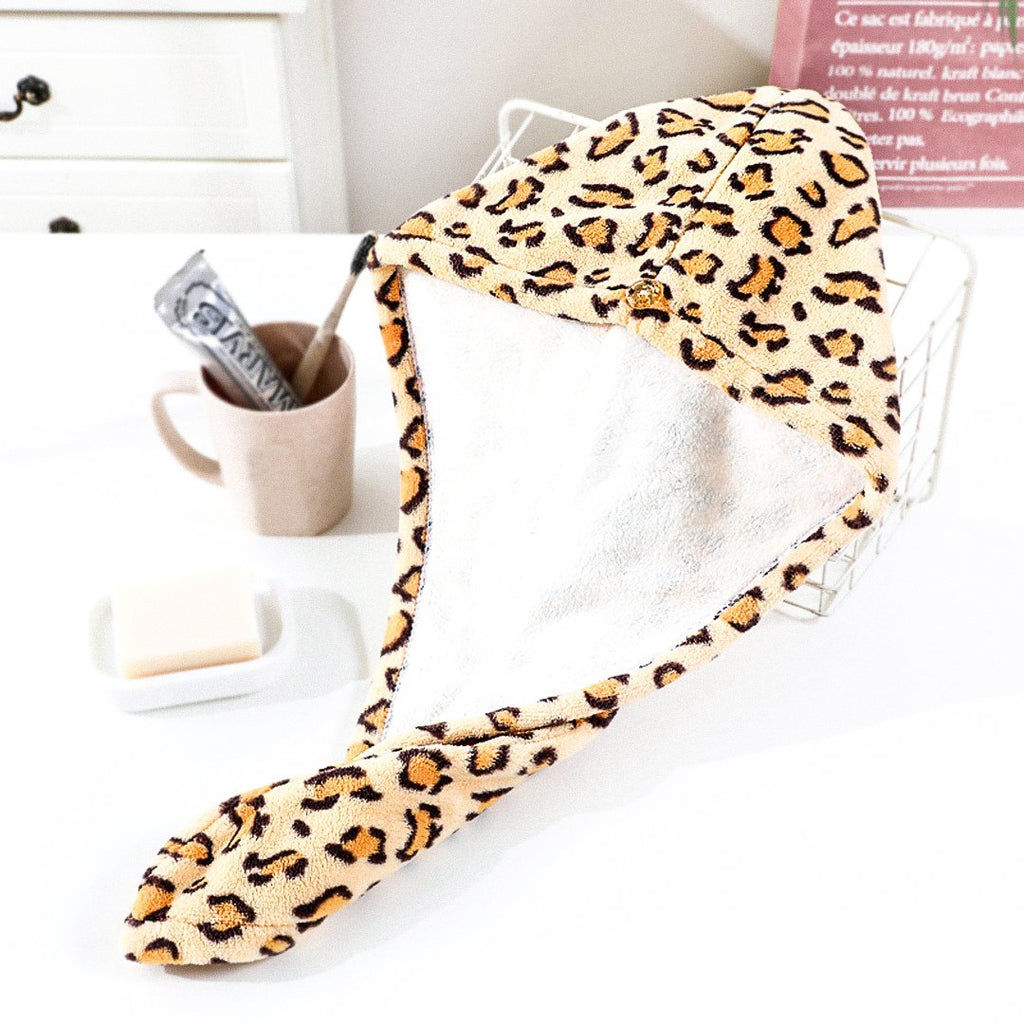The BAEBUN Leopard Hair Towel