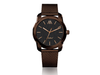 Reloj acero inoxidable color chocolate Markheat