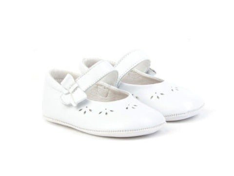 White Mary Jane Pram Shoe