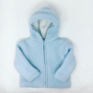 Light Blue Zip Up Cardigan