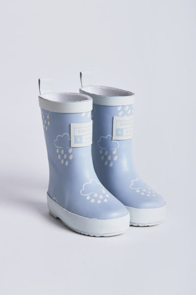 Baby blue wellies