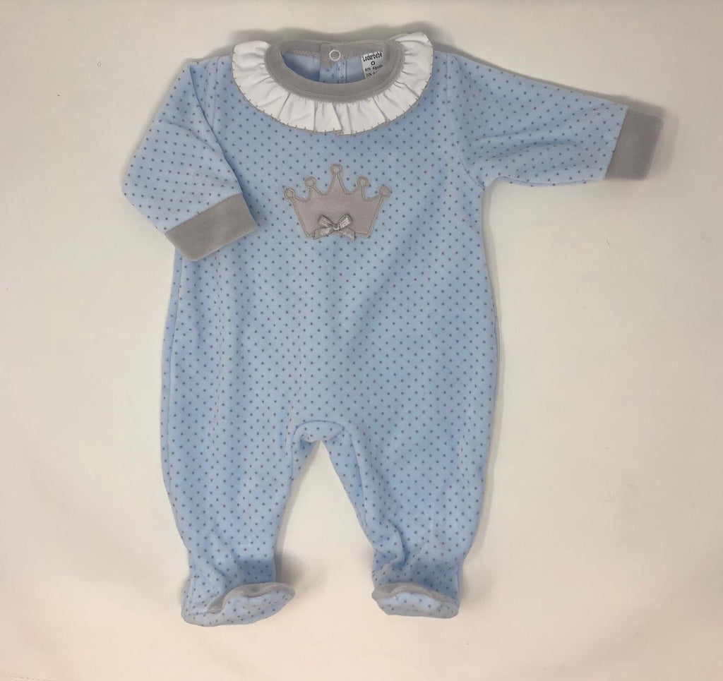 Pale blue Frill BabyGrow