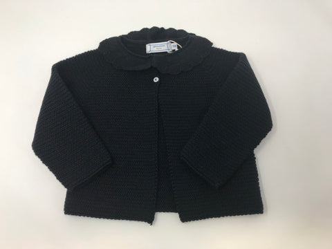 Navy Frill Neck Cardigan