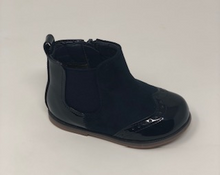 Navy Chelsea Brogue Boot
