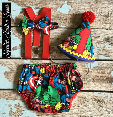 Boys Avengers Cake Smash Outfit, Boys 1st Birthday Outfit, Boys Superhero Birthday