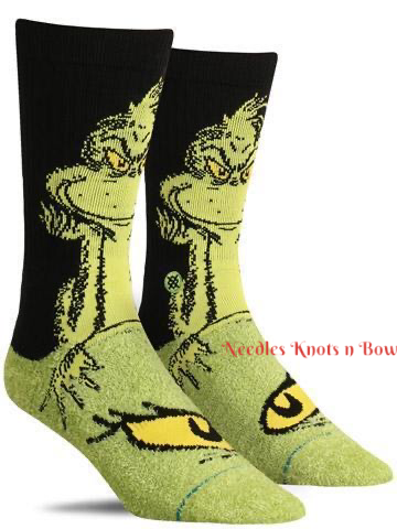 Grinch Socks, Men's Christmas Socks, Womens Christmas Socks, The Grinch