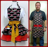 San Francisco 49ers Apron, Mens Apron, Womens Apron, Unisex, 49ers Football Game Day Team Apron, Sports Team Aprons