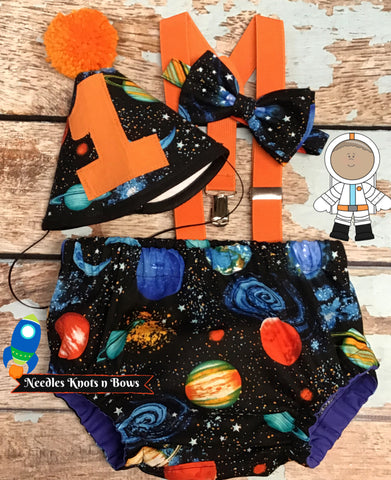 Boys Cake Smash Outfit, Space Birthday, Boys 1st / 2nd Birthday