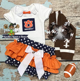 Girls Auburn University Outfit, Girls Football Outfit, Baby Shower Gift