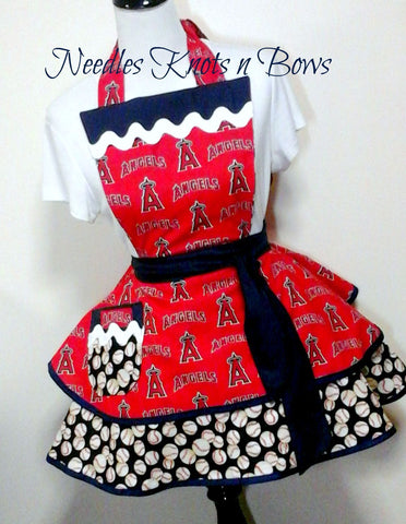 Los Angeles Angels Women's Apron, Angels Apron, Womens Flirty Apron, Baseball, Game Day