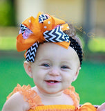 Girls Halloween Hair Bow, Girls Layered Halloween Hair Bow, Hair Accessories, Orange & Black Hair Bow