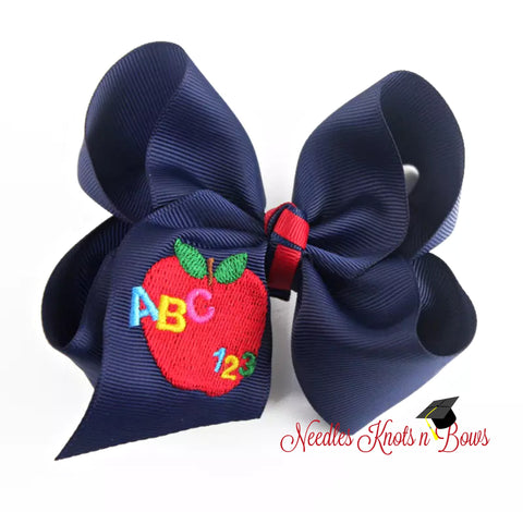 School Hair Bow, Back to School Hair Bows, Girls Bows, Girls Accessories