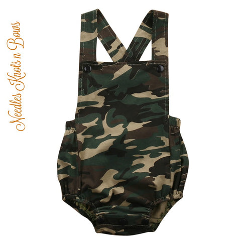 Camo Romper, Baby Boys / Baby Girls Camouflage Romper, Boys Camo Birthday Outfit,  Camo Outfit