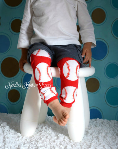Choice #1: Baseballs on red leg warmers