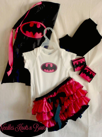 Baby Girls Batgirl Costume, Newborns, Infants Superhero Halloween Costume, Outfit