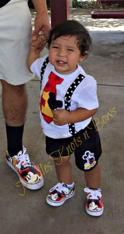 Boys Mickey Mouse First Birthday Outfit